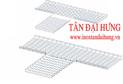 Chữ T máng lưới -TDH (TDH- T connector for wire mesh tray/Cable basket tray)