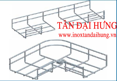 Co ngang máng lưới 90- 100/150mm -TDH (TDH-Horizonal Bend 100/150 mm for wire mesh tray/Cable basket tray)